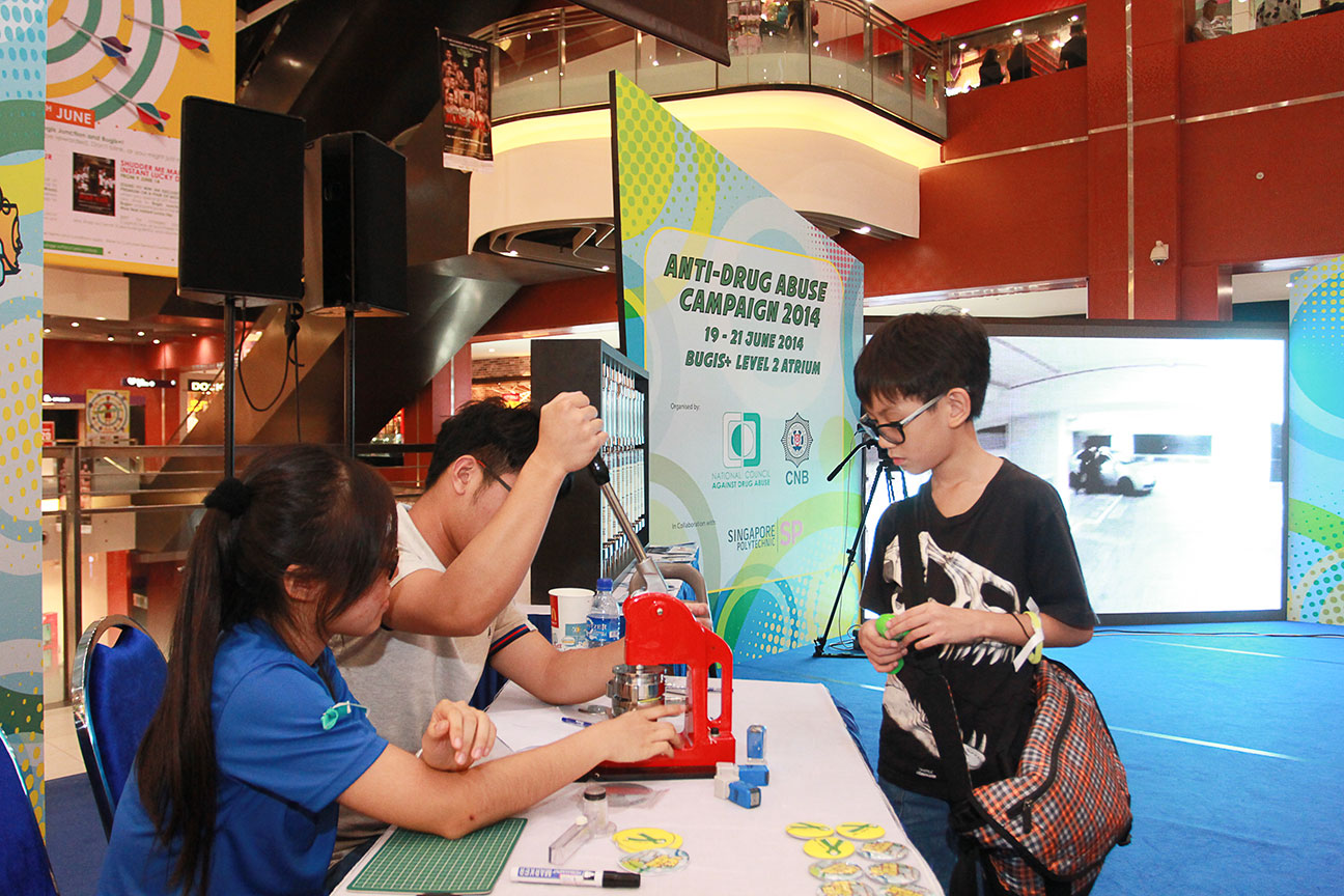 A booth at Anti-Drug Abuse Campaign 2014 Roadshow on 21 June 2014